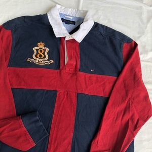 VINTAGE TOMMY HILFIGER RUGBY LONG SLEEVE POLO